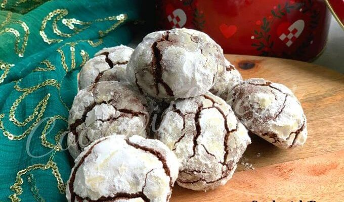Whole Wheat Chocolate Crinkle Cookies