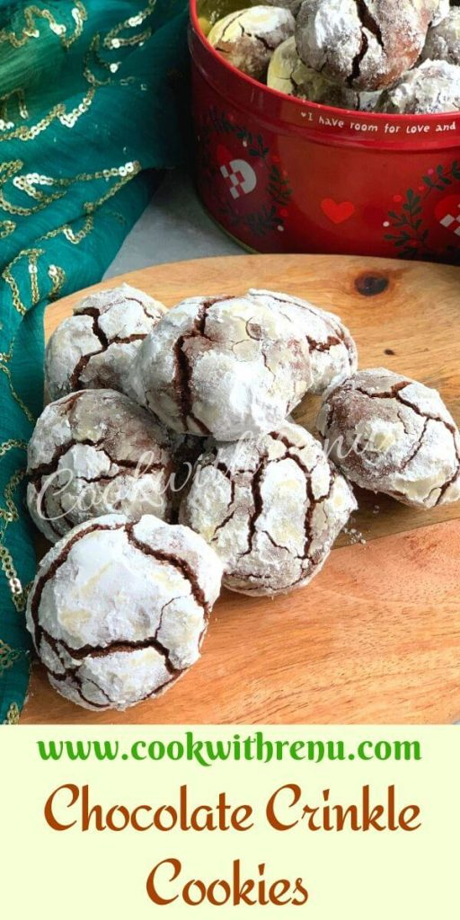 Soft and fudgy this Whole Wheat Chocolate Crinkle Cookies are a perfect classic Christmas treat and a lovely gift idea for your friends and family.