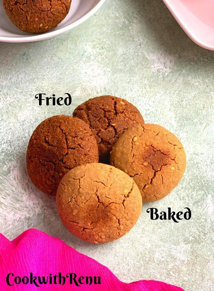 Fried and Baked Tikkis/Cookies