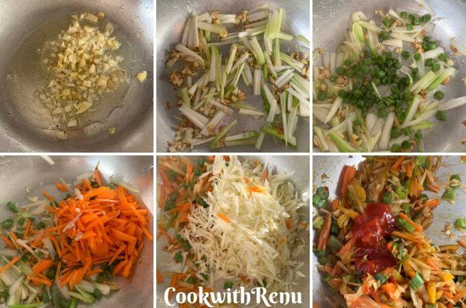 Making of the Spring Rolls Stuffing