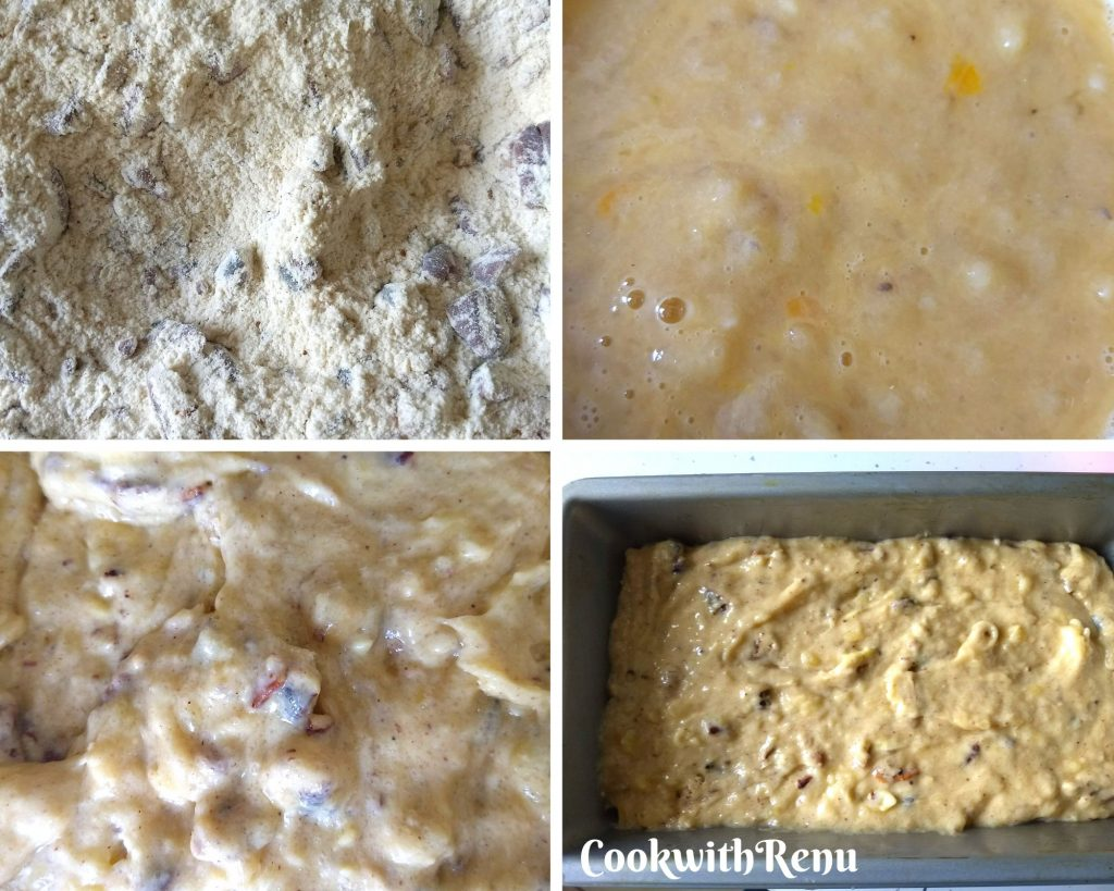 Step by Step Pics of making of Banana Bread