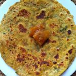 Paratha served with Homemade No oil Lemon Pickle