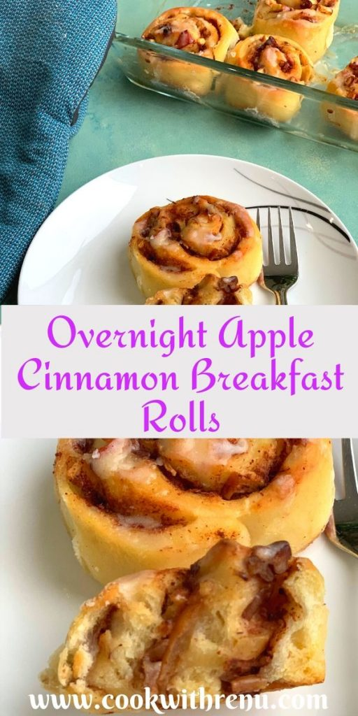 Overnight Apple Cinnamon Breakfast Rolls are perfect, delicious and yummy breakfast rolls which can be prepared ahead of time and baked just when needed.