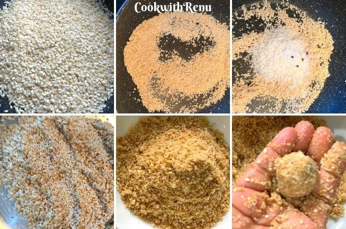 Making of Sesame Seeds and Jaggery Ladoo