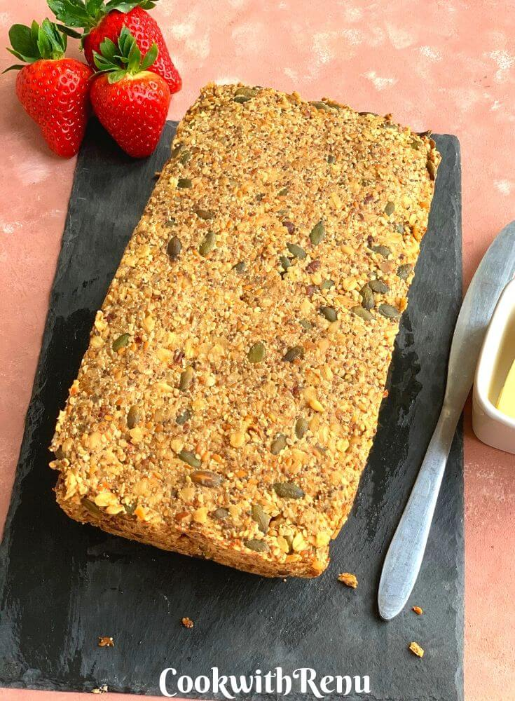 Flourless Nut and Seed Bread