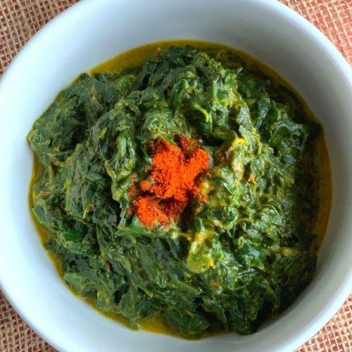 Palak ka kaapa - Spinach gravy from Uttarakhand