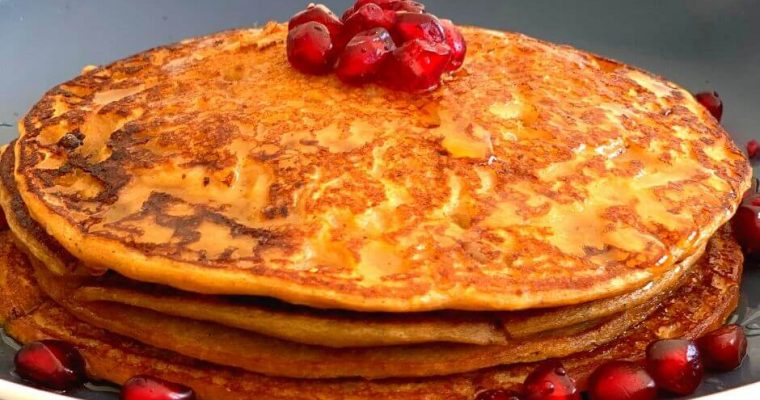 Buckwheat Sweet Potato Pancakes