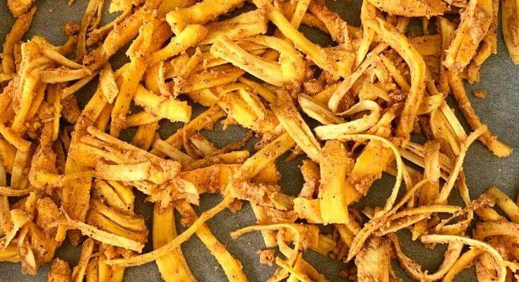 Baked Jackfruit Rags Fries