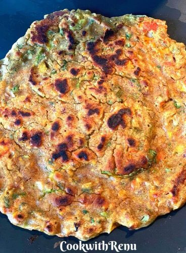 Cooked Leftover Dal Pancake