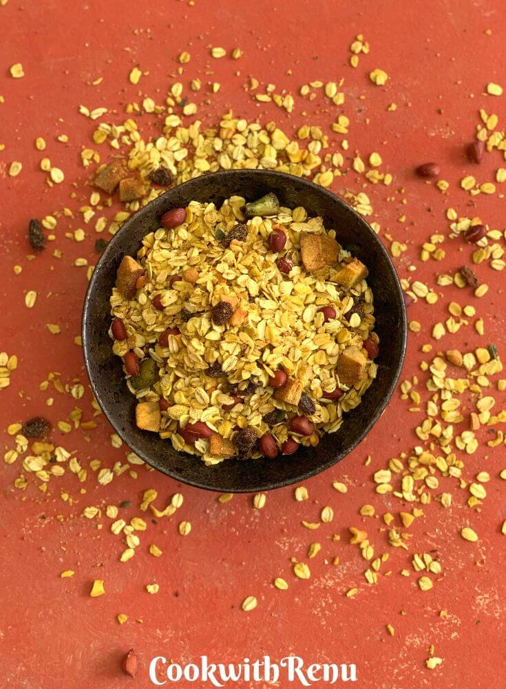 Oats Chivda_Spicy Oats Trail Mix