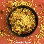 Oats Chivda_Spicy oats Trail Mix a close up view