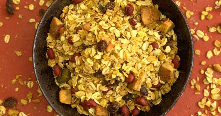 Oats Chivda | Spicy Oats Trail Mix