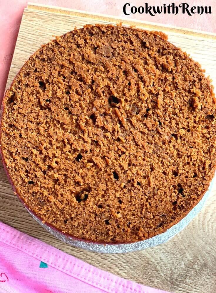The cut chocolate Sponge