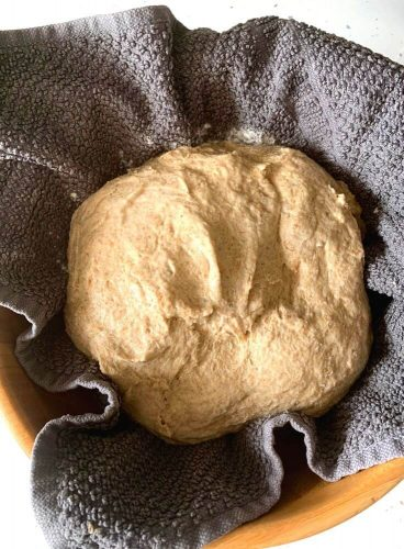 Boule ready to be fermented and set in the proofing basket or bowl