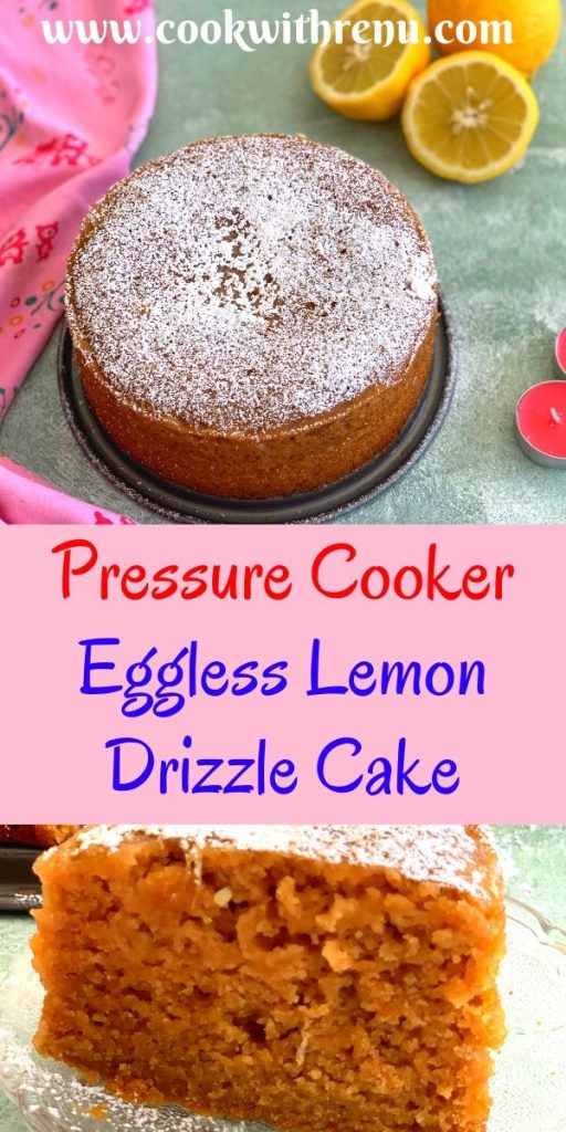 Eggless Lemon Drizzle Cake is a refreshing light, spongy and moist cake bursting with sweet and tangy flavors. This cake can be easily converted to Vegan with substitutions.