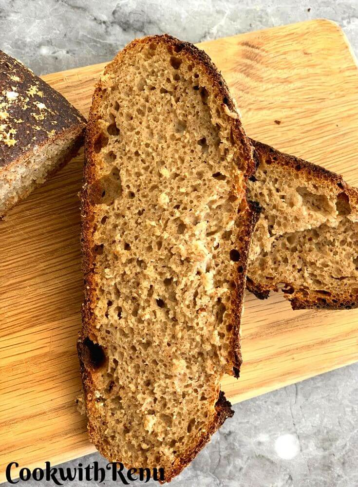 Cut slices of sourdough bread