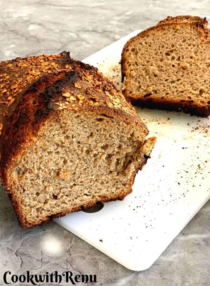 Cut Loaf Sourdough Bread