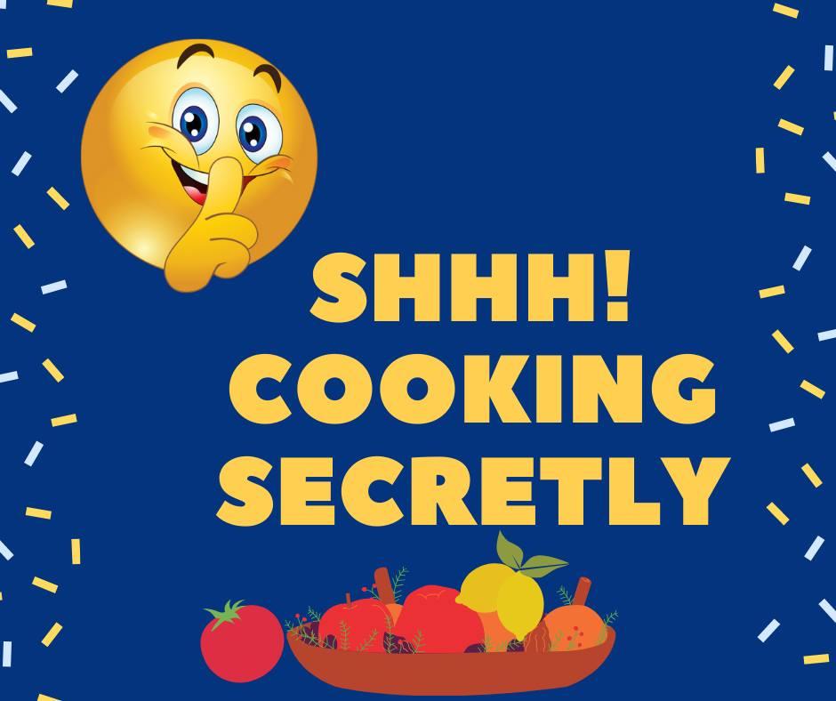 Shhhhh Cooking Secretly Challenge Logo