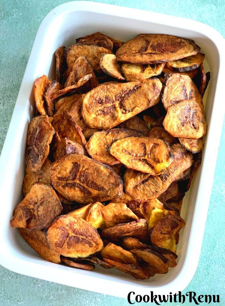 Banana Baked Chips , Crisp and yum even after a week