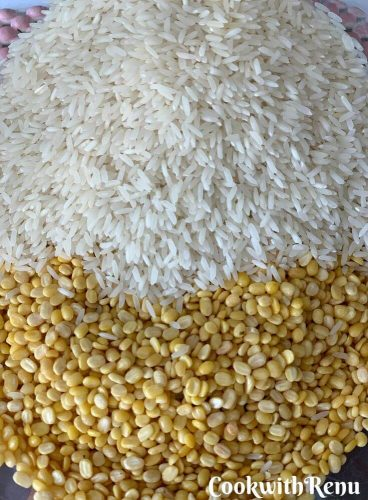 The main ingredients, Dal & Rice