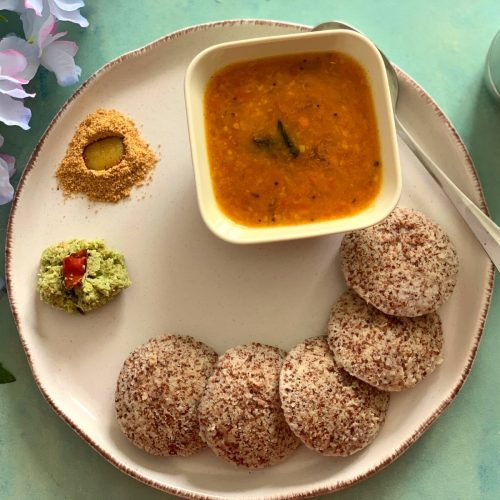 Ragi Idli using whole Ragi seeds (Vegan & Gluten-Free)