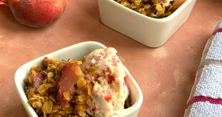Gluten Free Peach Crisp using Fresh Peaches