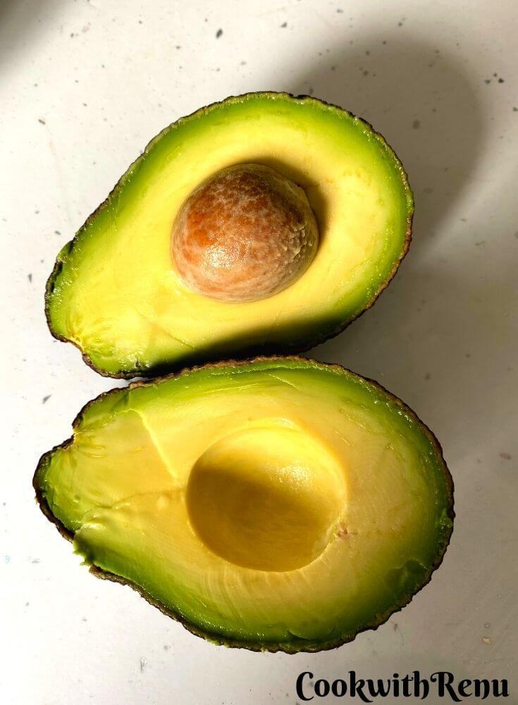 Perfectly ripe Avocado cut open