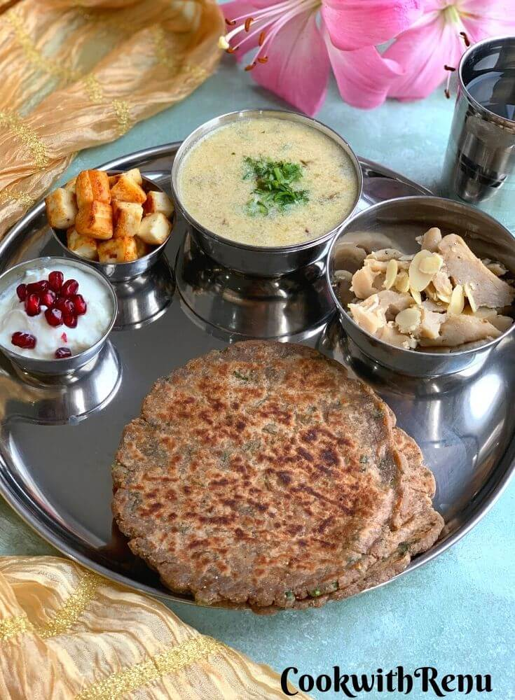 Fasting - Vrat - Farali Thali is a complete balanced meal with carbs, proteins and healthy fats and is completely gluten free.