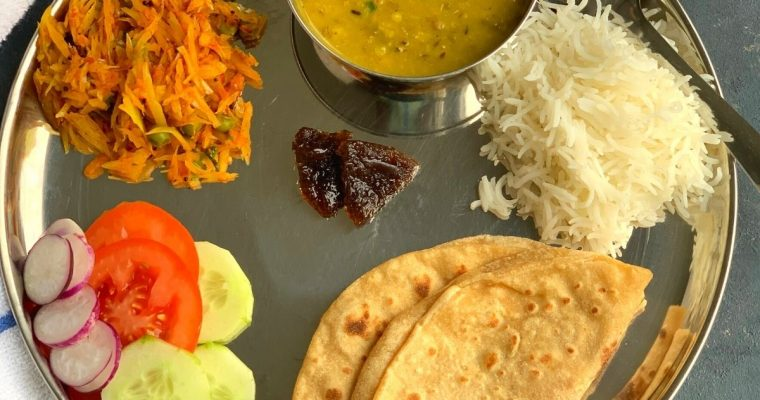 North Indian Vegetarian lunch Thali (No onion No garlic)