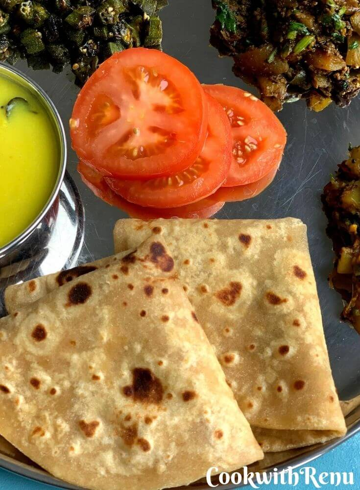 Close up look of Roti/Paratha