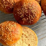 Vegan Sourdough Burger Buns are soft and chewy, eggless burger or sandwich buns. This is an easy recipe for a sourdough bread beginner.