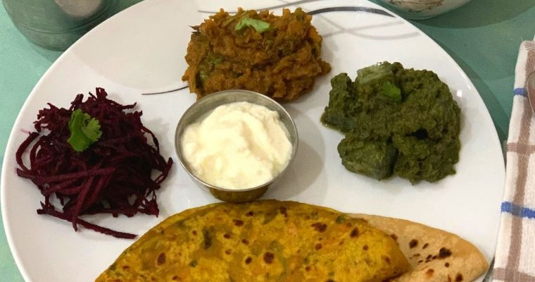 Winter Special Vegetarian Dinner Thali
