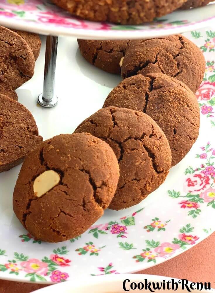 Eggless Jowar Chocolate Cookies (Gluten-Free)