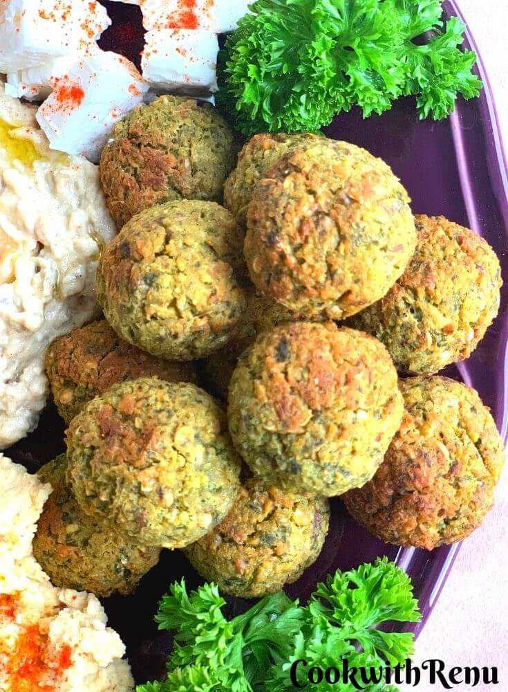 close up look of Baked Falafel