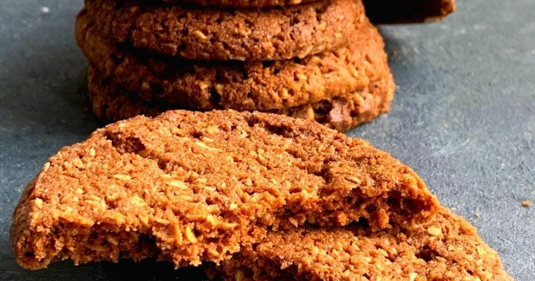 Buckwheat Oats Cookies (Eggless, GF, Nut-Free)