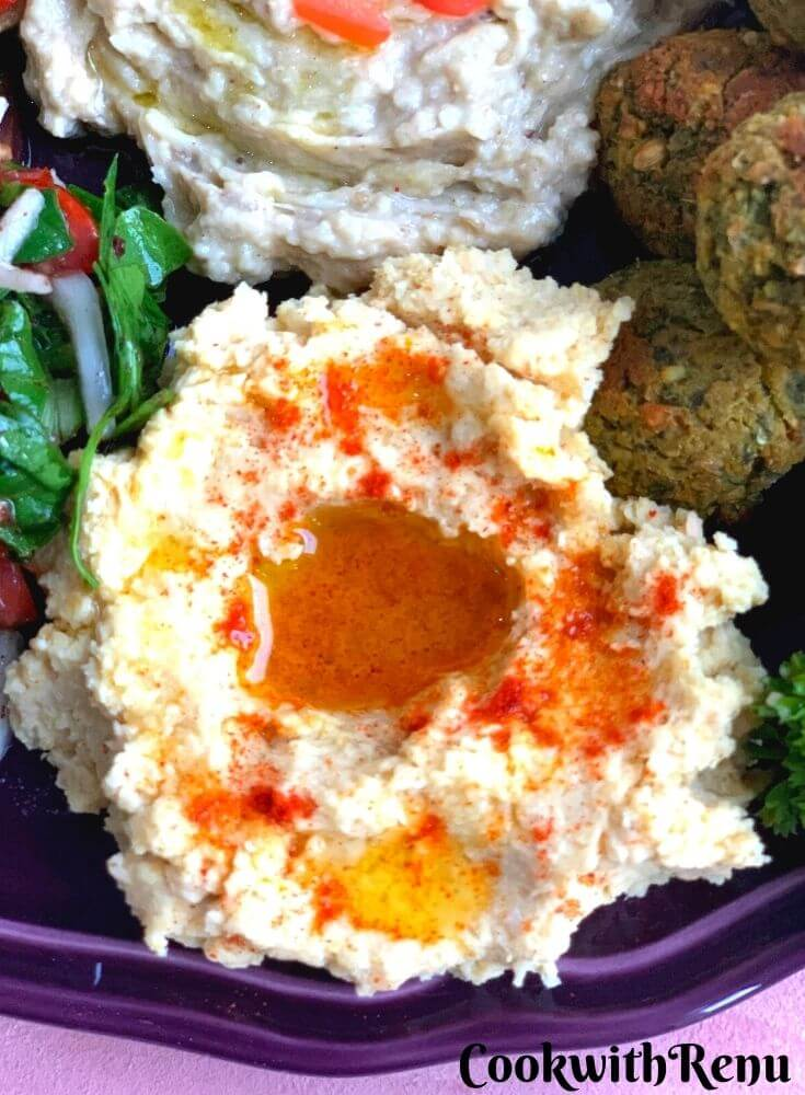 Close up look of Chickpea Hummus