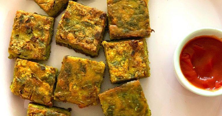 Easy Maharashtrian Kothimbir Vadi (Steamed Coriander Leaves cakes)
