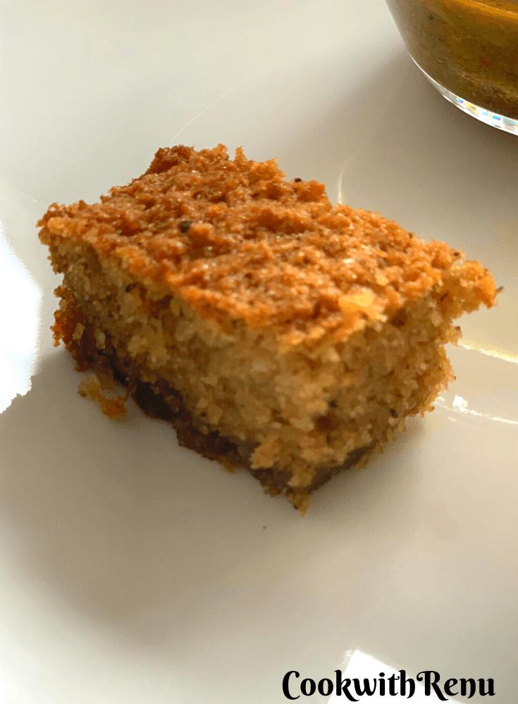 Slice of Goan Baath Cake
