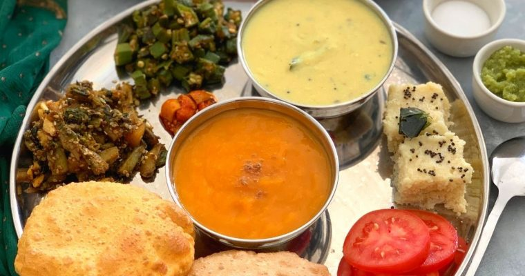 Gujarati Thali (Indian Regional Thali)