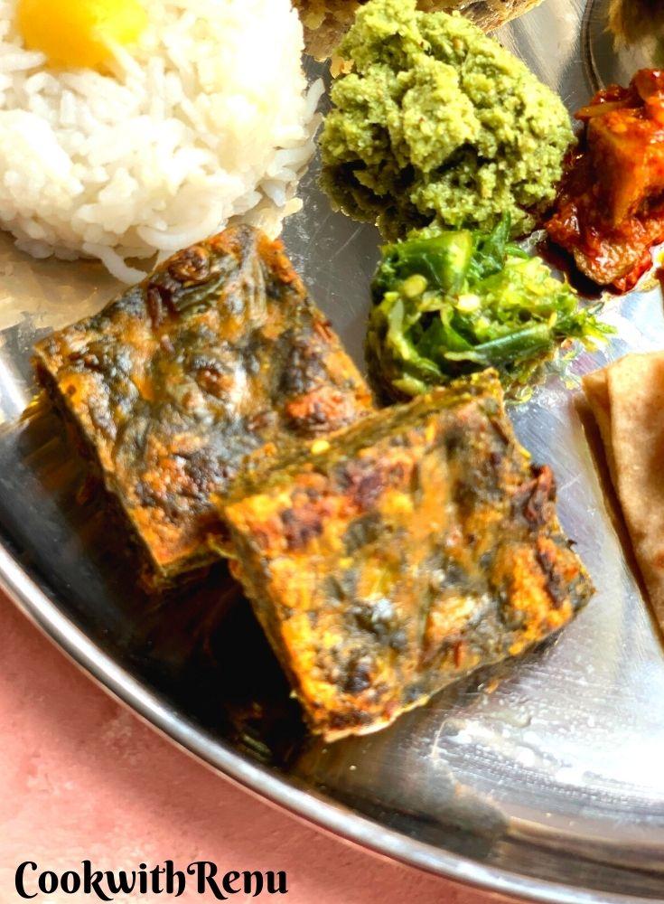 Maharasthrian Kothimbir Vadi