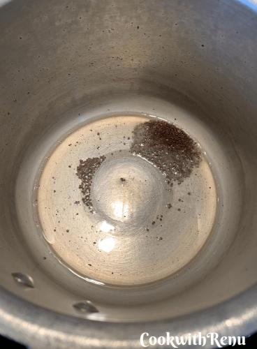 Adding of mustard seeds