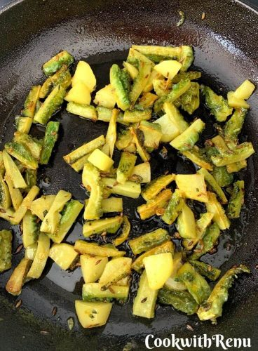 Mixed Karela and Potato