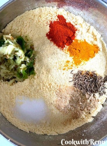 Spices added to the gram flour