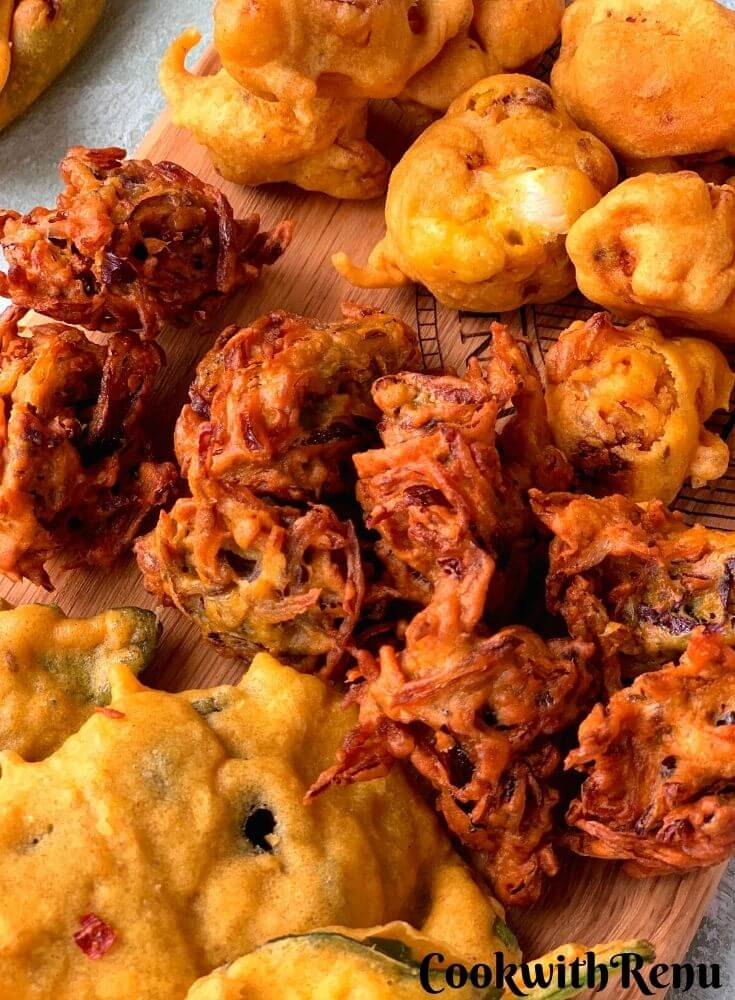 Close up look of Onion Pakora