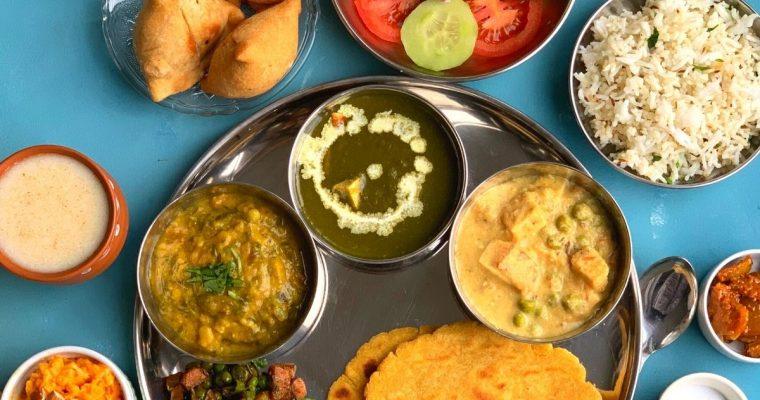 Vegetarian Punjabi Thali (Indian Regional Thali)