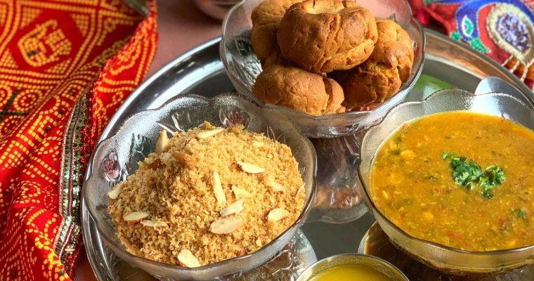 Rajasthani Dal Baati Churma (In Oven & Pressure Cooker)