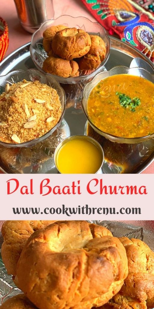 Rajasthani Dal Baati churma is a traditional delicacy from the state of Rajasthan and one of the most popular meals consisting of lentils, Whole Wheat bread/rolls & Churma a sweet.