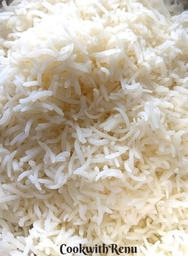 Perfectly cooked Steamed Rice