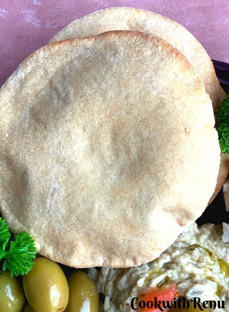 Close up look of Syrian Pita Bread