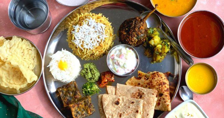 Vegetarian Maharashtrian Thali (Indian Regional Thali)